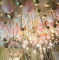 Pink White Gold Transparent Confetti Balloons Tender Powder Series Girls Birthday Decoration Latex Balloons