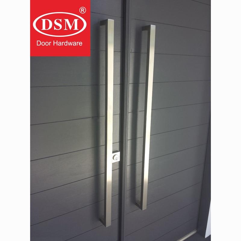 Poignée de porte d'entrée Durable en acier inoxydable brossé pour portes en verre, en bois et en métal PA-130-38 * 25*1200mm - 3