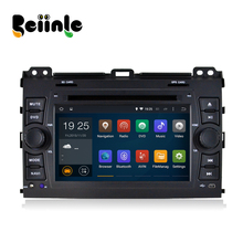 Beiinle Android 4.4.4  GPS Navigator DVD Radio  QUAD CORE 16G 2 Din Car 1024*600  for Toyota Prado 2008-2011