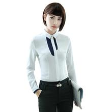 Vrouwen kleding Wit katoenen Shirts Ademend Zachte Blouse Elegante Lange  Mouw Vrouwelijke Dragen OL Casual Stijl Lady Tops plus . c47630472cc8
