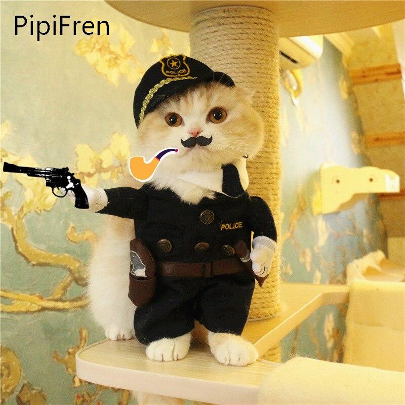 PipiFren 개 의류 복장 재미 있은 변경 애완 동물 경찰 귀여운 패션 의류 의류 무료 배송 ropa mascotas pets jurk