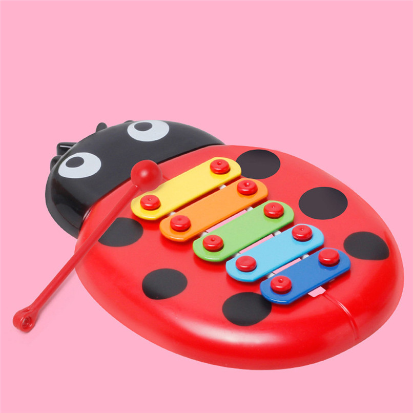 Education Toy Baby Kids Colorful Ladybird Model Xylophone Musical Toys Early Education Wisdom Development Toys Baby Toys JE15#F (4)