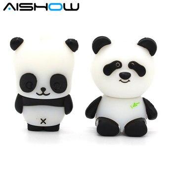 U Disk pen drive cartoon panda keychain 4gb/8gb/16gb/32gb 64gb 128gb animal bulk usb flash drive flash memory stick pendrive