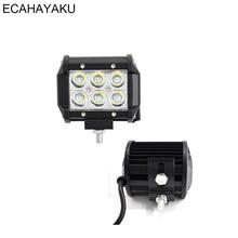 цена на ECAHAYAKU 1pcs 4 18W LED Work Light 12v 24v Spot Beam Led Work Lamp Driving fog Lights Bar Offroad 4x4 Trucks 4WD ATV SUV Boat