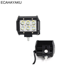 ECAHAYAKU 1pcs 4 18W LED Work Light 12v 24v Spot Beam Led Work Lamp Driving fog Lights Bar Offroad 4x4 Trucks 4WD ATV SUV Boat