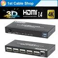 4 К HDMI Splitter 1X4 3D, EDID, HDMI 4 К X 2 К резолюции HDMI 1 в 4 с адаптер питания