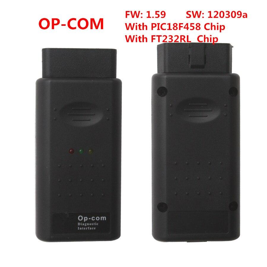 OPCOM Op-COM V1.59 2012V CAN OBD2 Diagnostic Scanner OP COM Software Version 120309a With PIC18F458 and FT232RL Chip