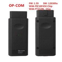 OPCOM Op COM V1.59 2012V CAN OBD2 진단 스캐너 OP COM 소프트웨어 버전 120309a PIC18F458 및 FT232RL 칩 포함