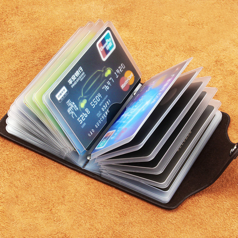 Oufankadi Genuine Leather Man Fashion Card Holder 20 Card Slots Large Capacity ID Credit Card Case Bag Purse Wallet 4 Color bovis 5102 02 casual man s pu credit name card wallet slots coffee