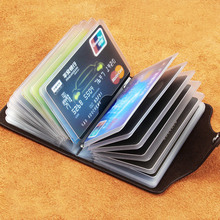 Oufankadi Genuine Leather Man Fashion Card Holder 20 Card Slots Large Capacity ID Credit Card Case Bag Purse Wallet 4 Color