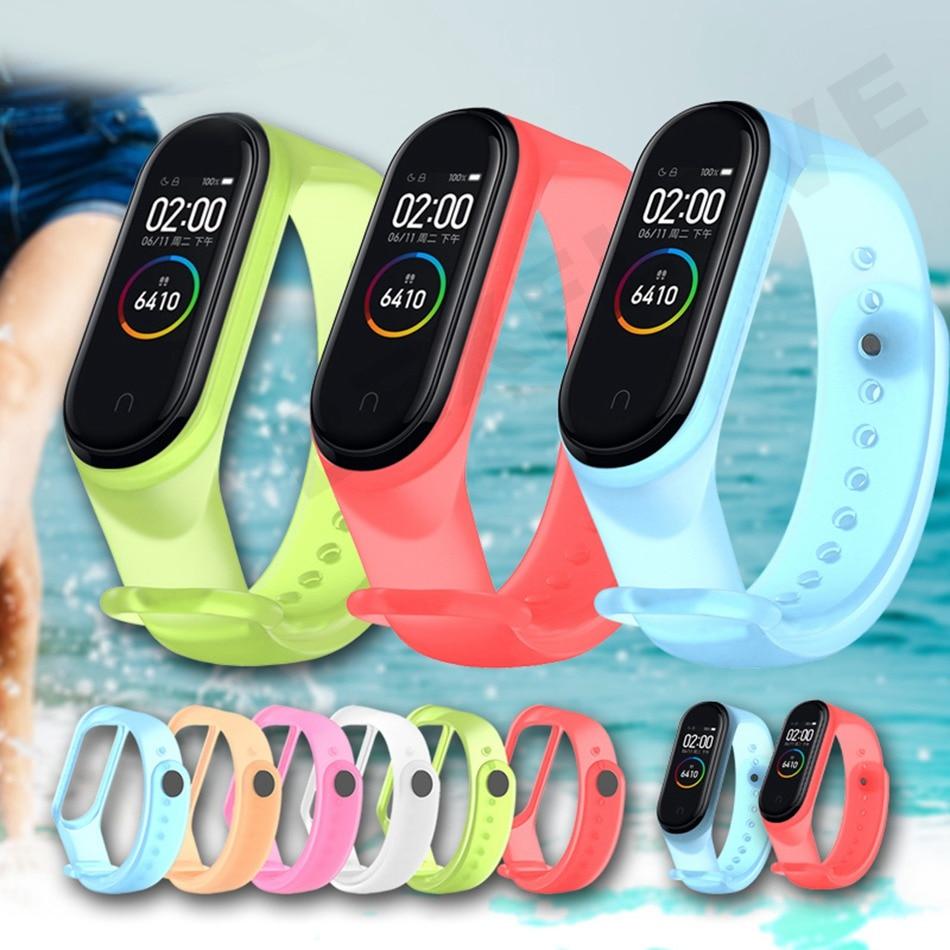 Clear Mi Band 4 3 Strap Wrist Strap For Xiaomi Mi Band 3 4 Bracelet Silicone Miband 3 4 NFC Accessories Smart Mi band4 Correa 4