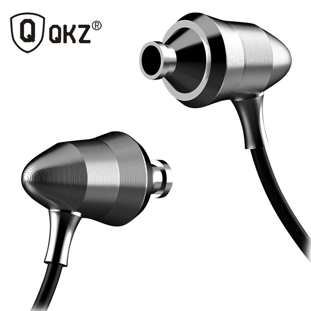 QKZ X6 In-ear Earphones Metal Version Professional Sound Quality Heavy Bass Headset Q Feeling Linear HIFI Fever Earplugs fashion professional in ear earphones light blue black 3 5mm plug 120cm cable