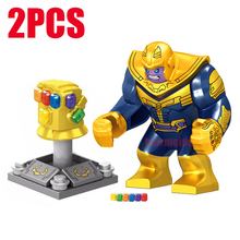 Marvel Super Heroes Thanos Figure With The Glove Avengers Building Blocks Set Toys Infinity War