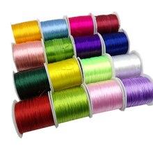 1 рулон/60 м 0,7 мм эластичная нить круглая кристаллическая линия нейлоновый резиновый эластичный шнур для изготовления украшений браслет из бисера 18 цветов