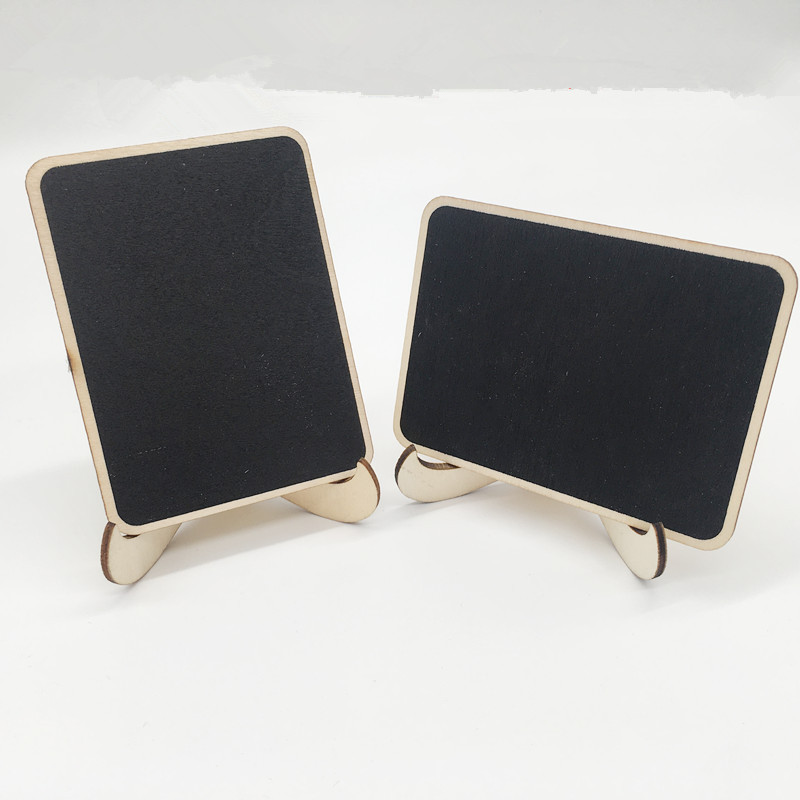 5pcs Mini Wooden Blackboard Chalkboard Message Board Office Supplies Wedding/Party/Christmas Decoration Message Memo Chalk Board