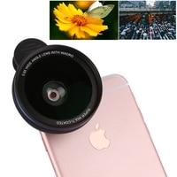 Super 0 6X Wide Angle Phone Lens Universal Metal Clip Smartphone Macro Lens Camera Lenses For