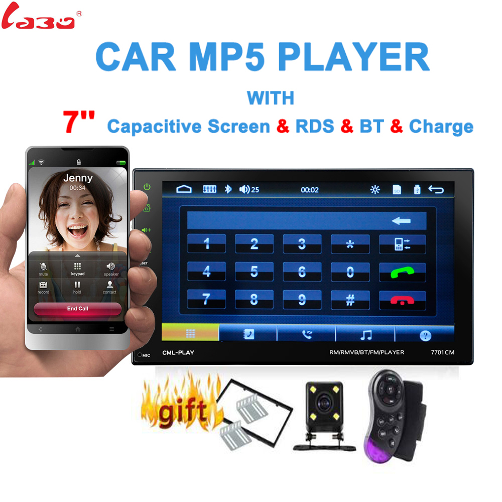 7 Touch Mirror Link Screen 2Din Car Radio Bluetooth Hands Free FM TF USB Rear View