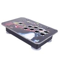 arcade joystick case arcylic material led hole design DIY Arcade Machine Joystick Acrylic Panel+Case Shell Set Replacement