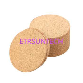 200pcs Classic Round Plain Cork Coasters Heat-insulated Cup Mats 10cm Diameter for Wedding Party Gift