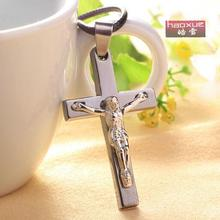 1pc Fashion Crucifix Necklaces  New Trendy titanium steel Plated INRI Cross Pendant Necklace