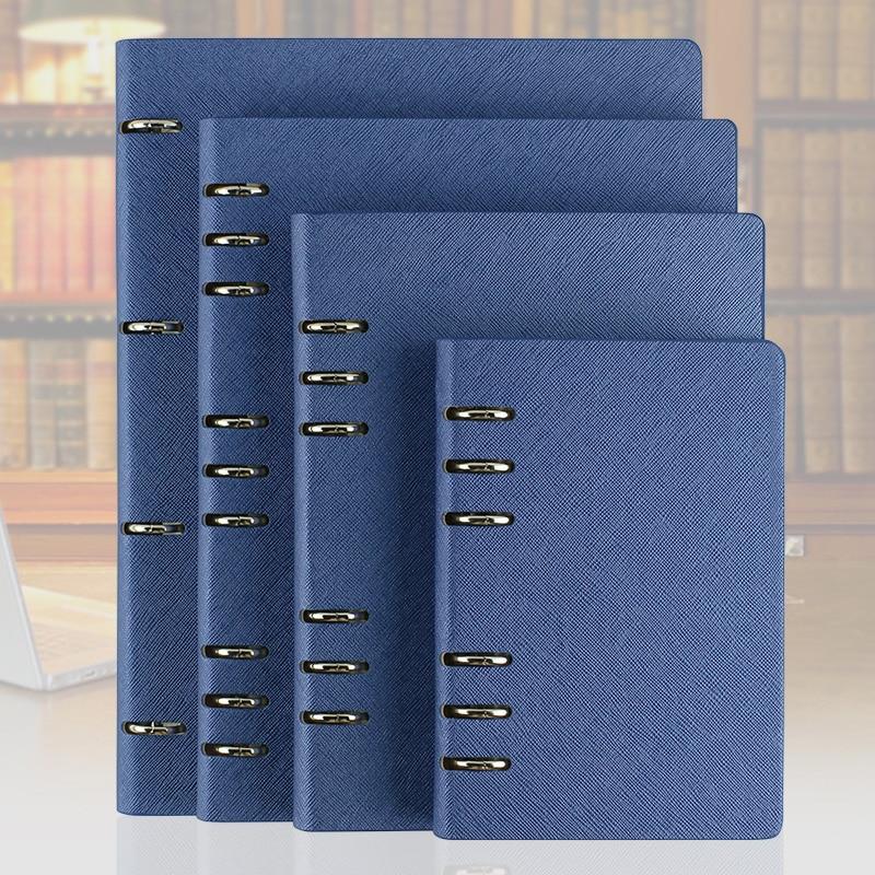 RuiZe de notebook de cuero A5 A6 B5 A4 en espiral cuaderno planificador del organizador del programa duro cubierta de negocios nota libro de papelería