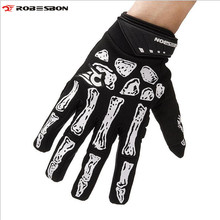 ROBESBON Cycling Gloves Windproof Thermal Skull Guantes Ciclismo Sport Luvas Road Riding Bike Bicycle Cycling Gloves Winter