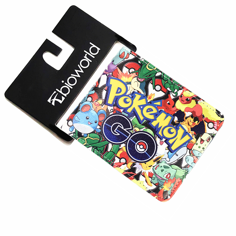 2016 Pokemon go Plus Wallet Pokemon Cartoon Wallets Pokemon Purse ID Credit Card Holder Leather Bag Purses For Men