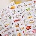 El nuevo diario Lindo gato decoración de la etiqueta engomada del teléfono pegatinas juguete DIY niño 6 hojas/sistema