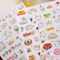 The new Cute cat diary decoration sticker set phone stickers child DIY toy 6sheets/set