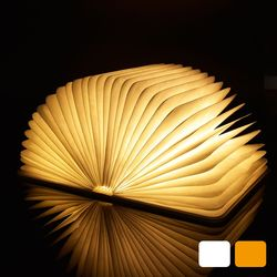 Led night light folding book light usb port rechargeable wooden magnet cover home table desk ceiling.jpg 250x250