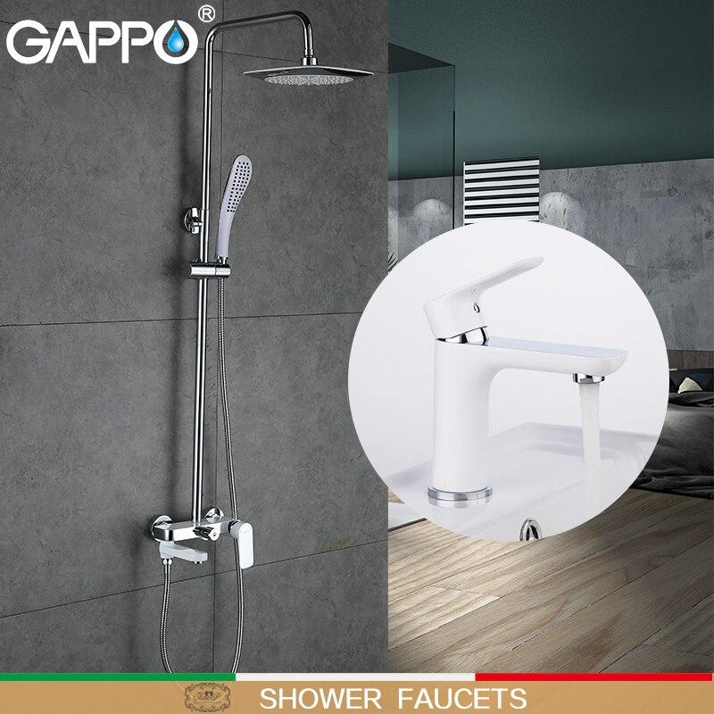 GAPPO シャワーの洗面器の蛇口浴室のシンクミキサータップ真鍮水道水の蛇口浴室の蛇口タップ滝  グループ上の 家のリフォーム からの シャワー 蛇口 の中 1