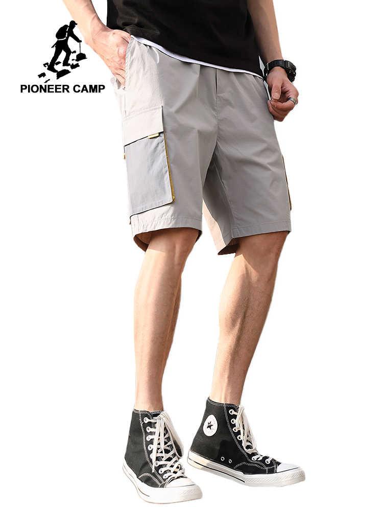 Campamento de pioneros pantalones cortos hombres Cool Patchwork Casual pantalones cortos con bolsillos delgada de verano Pantalones cortos de algodón pantalones cortos de camuflaje ADK908125