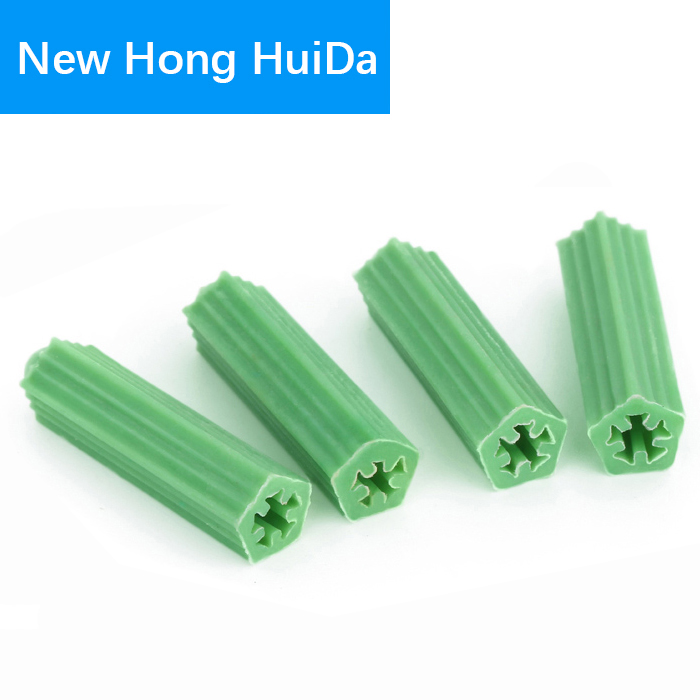 20PCS Green Plastic Wall Plugs 8mm x 27mm Fixing Anchor Plug for Masonry Screw