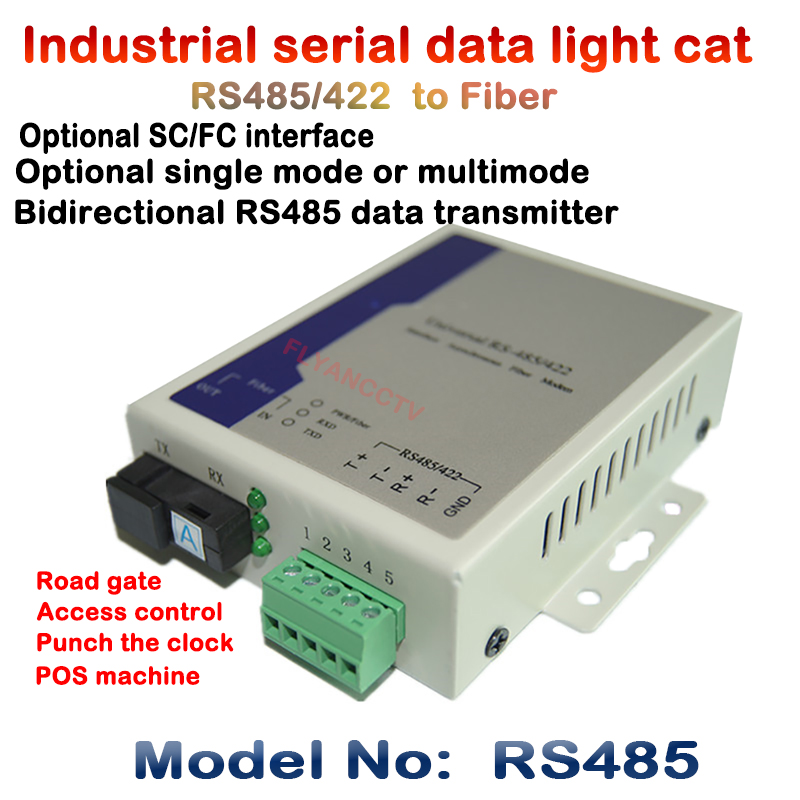 Industrial grade bi-directional RS485 RS422 to Optical Fiber Transceiver / Optical cat / modem communication data SC FC 20KM the can bus transceiver can converter canbus fiber optical fiber can sc dual fiber transceiver