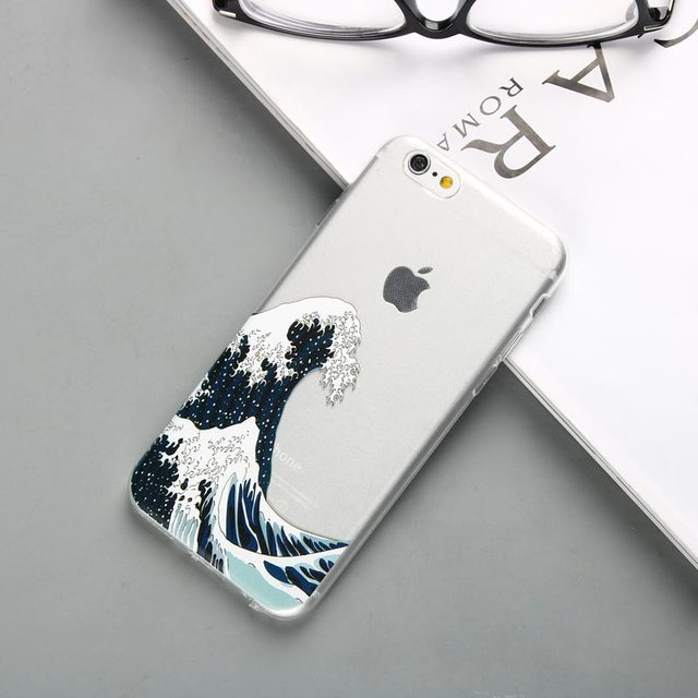 Silicone Ocean Waves Printed iPhone Case 4