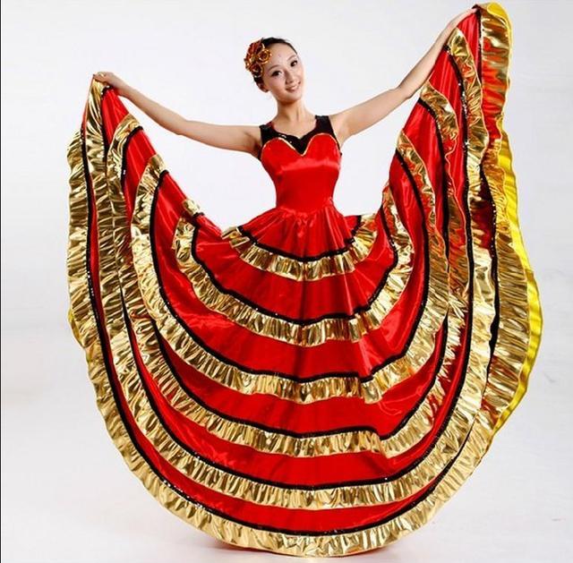 14840f0f000d Flamenco dance costume dance expansion skirt costume modern dance  performance wear clothes petal skirt spanish flamenco dress
