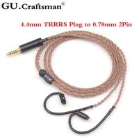 GUCraftsman 6n occ медь 0,78 мм 2Pin 64 аудио a12t/u12 TIA Fourte Oriolus re2000 Легенда х LCDi4 VE8 кабель для наушников