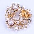 2016 Новый дизайн петуния брошь pin позолоченный перл брошь для женщин подарки