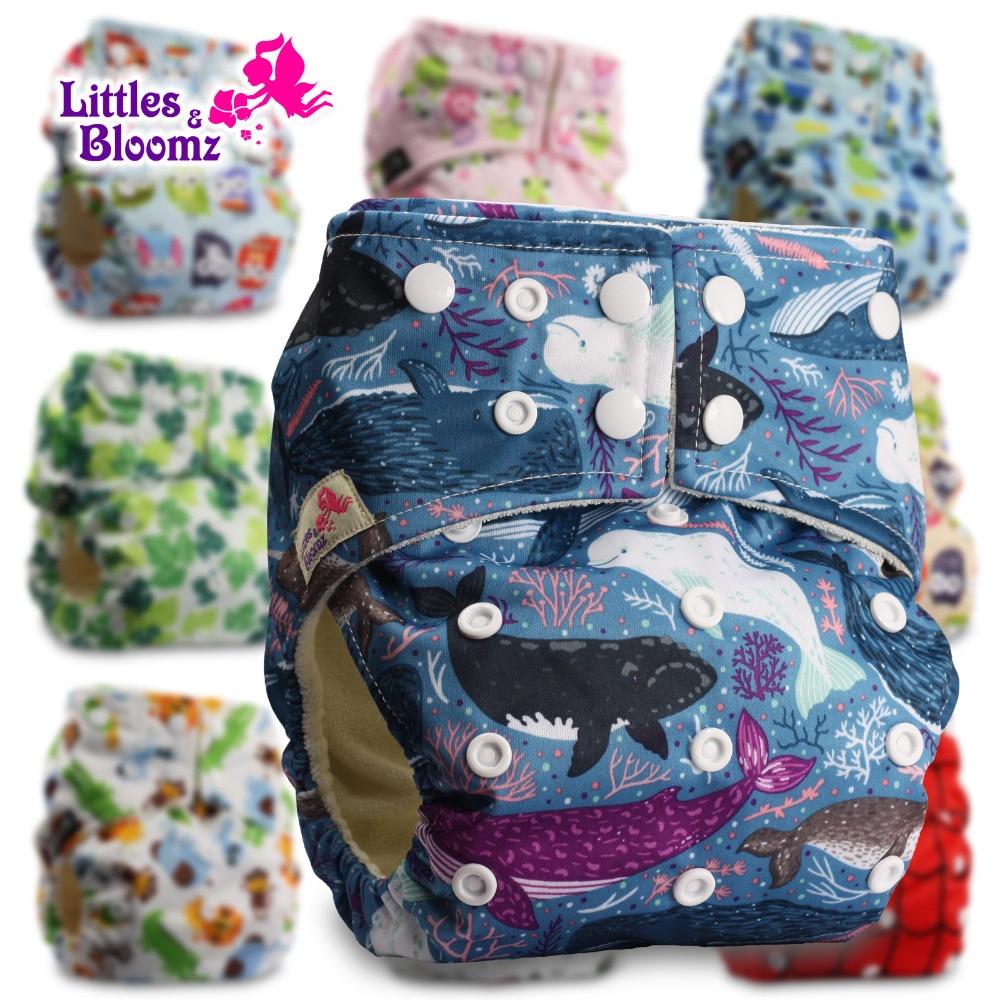 [Littles & Bloomz] Бамбуковые моющиеся тканевые подгузники, детские подгузники, карманные подгузники, тканевые Чехлы, многоразовые подгузники, оди...