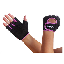 For Weight Lifting AOLIKES Men Womens Sports Fitness Exercise Gloves Workout Weight Lifting Gym Mittens black+purple S M L
