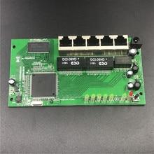 5 port Gigabit router module 10/100/1000 M verdeelkast 5 port mini router modules OEM bedrade router module PCBA met RJ45