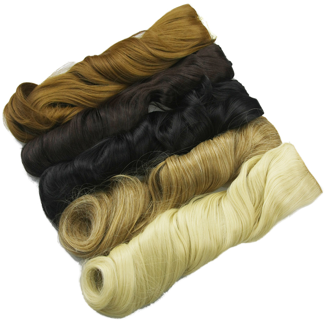 Soowee 60cm Long Synthetic Hair Clip In Hair Extension Heat Resistant Hairpiece Natural Wavy Hair Piece 5