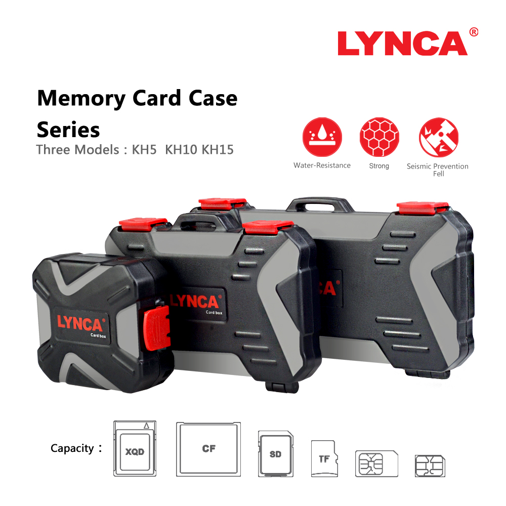 LYNCA Waterproof Memory Card Case Holder Storage Sim Micro TF SD Card Case Storage Box Holder Wallet Bag Carrying Pouce Case memory card case aluminium alloy 8 tf 4 sd memory cards storage box sd card holder