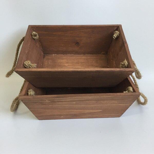 2pcs Lot Wholesale D26xw18xh9cm Wooden Planter Boxes Flower Boxes