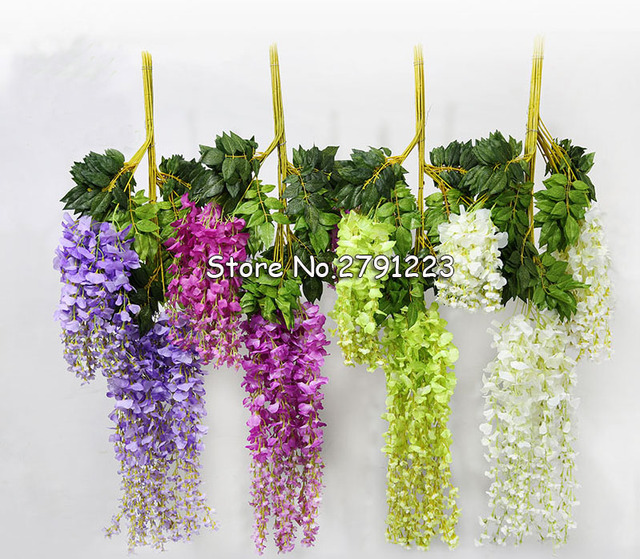 24pcslot 105cm silk wisteria artificial hanging flowers hanging 24pcslot 105cm silk wisteria artificial hanging flowers hanging fake flower for wedding party home mightylinksfo Images