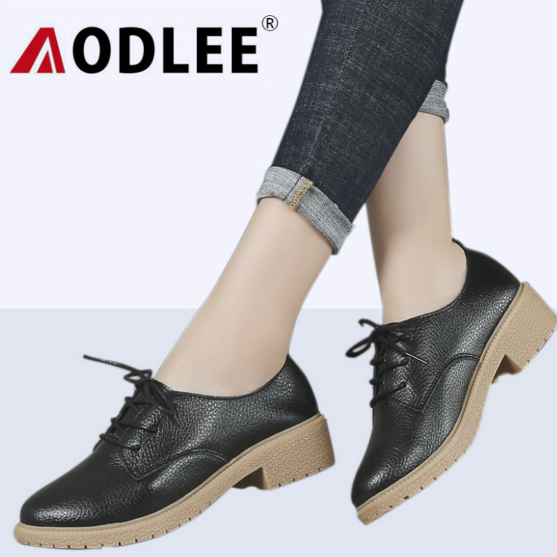 AODLEE Women Oxfords Flats Platform Shoes Patent Leather Shoes Woman Lace up pointed Creeper Brogue Loafers Women Ladies Shoes qmn women genuine leather platform flats women laser cut patent leather brogue shoes woman oxfords lace up leisure shoes 34 39