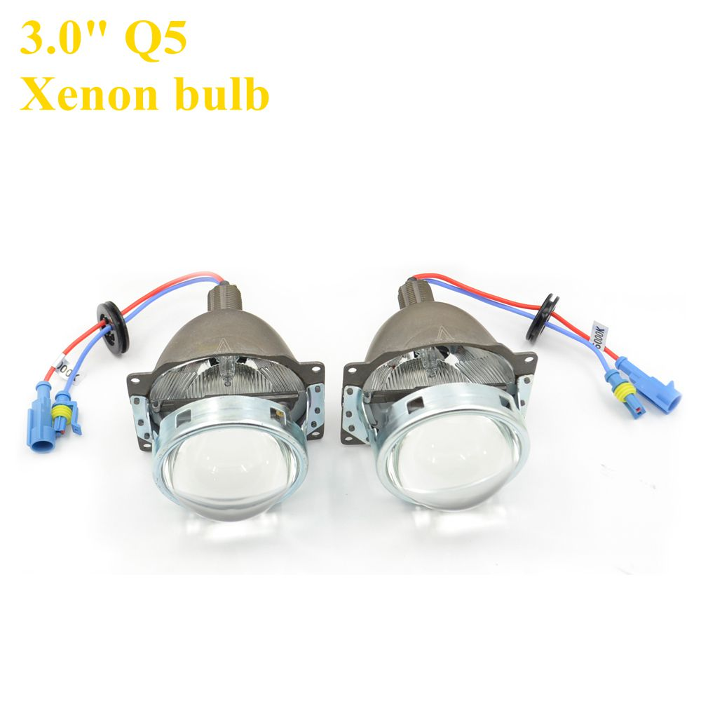 ФОТО 3 inches Q5 Koito Bi-xenon HID Projector Lens  LHD Universal Fast Install projector lens xenon Bulb 5000K 6000K 8000k hid xenon