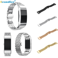Hcandice Perfect Gift New arrive  Genuine Stainless Steel Bracelet Smart Watch Band Strap For Fitbit charge 2  Mar08