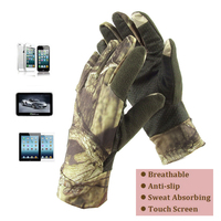 2016 Outdoor Ultra Thin Summer Breathable Anti Slip Fishing Hunting Gloves Camo Touch Screen Camouflage Mountain