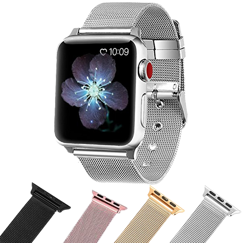Apple Watch Accessories iWatch Band Milanese Loop Stainless Steel Band with Classic Buckle for Apple Watch